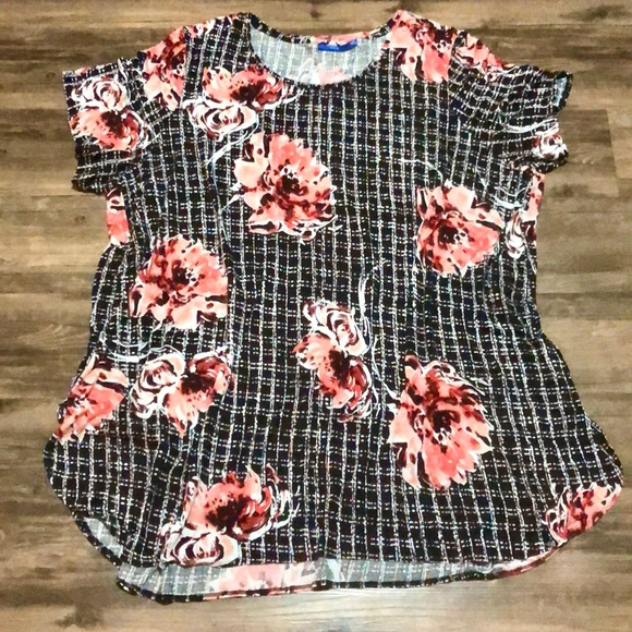 Apt. 9 Tops - Apt 9 Floral Short Sleeve Blouse size 4X